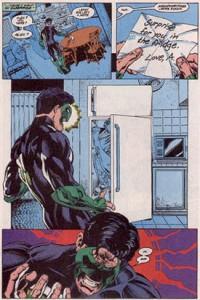 הפאנל המפורסם בו מוצא הגרין לאנטרן את חברתו במקרר.