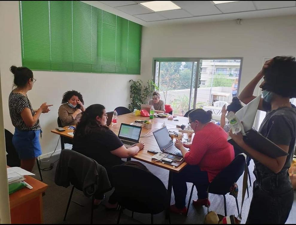 איגוד עובדים בפגישת עבודה