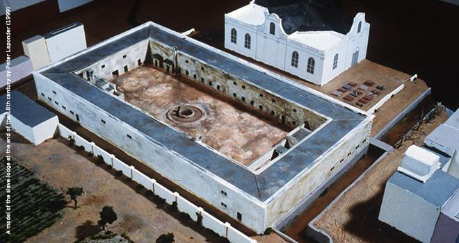 מבנה ששימש כתחנת סחר עבדים במערב אפריקה