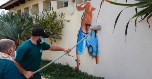 התנועה הפמיניסטית הצליהח במאבק למחיקת הציור בחוף מציצים