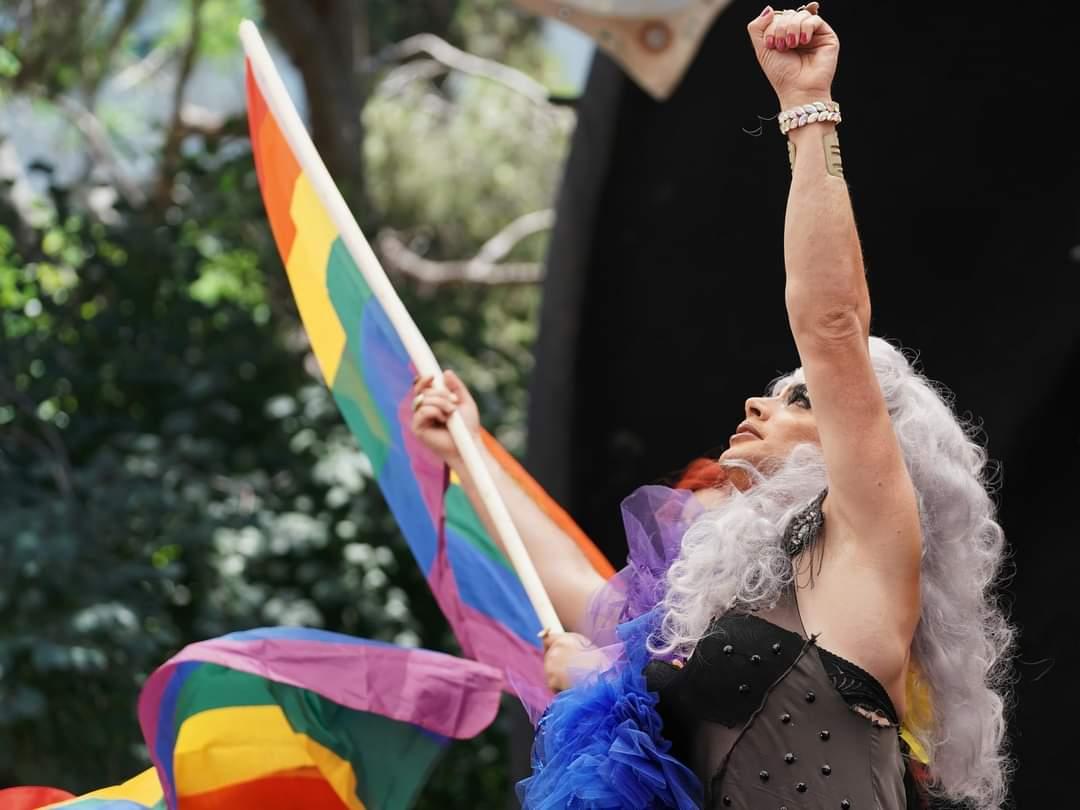 בבית הקהילות בחיפה יצרו ייצוג שהתבטא במצעד הגאווה המצולם בתמונה