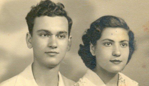 יצחק וטוני קצת לפני יציאת יהודי ערב בה השתתפו ב- 1953