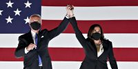 ג'ו ביידן וקמלה האריס בנאום הניצחון 2020