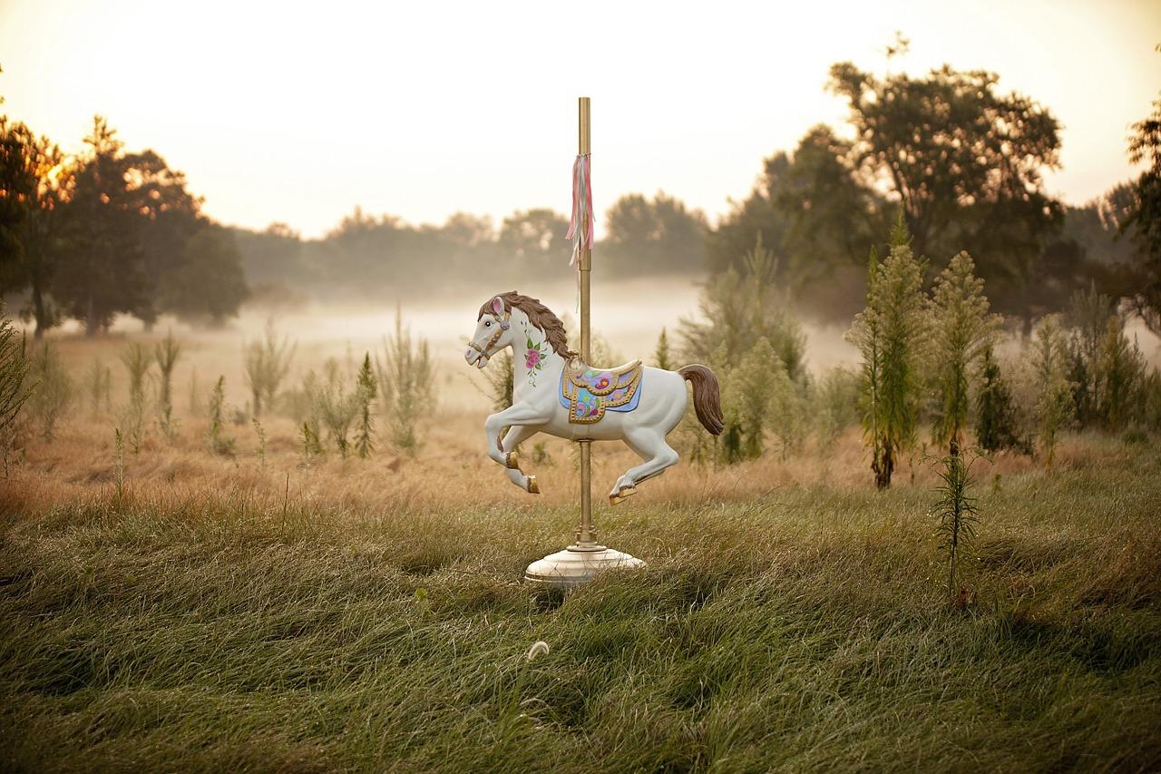 סוס קרוסלה, כמו בשיר של טלי וייס