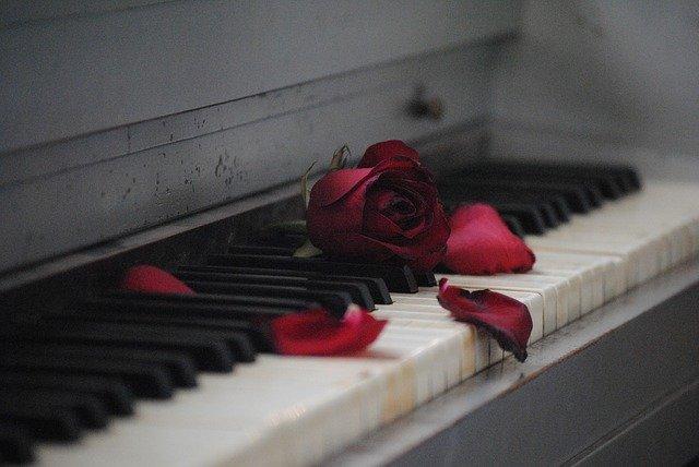 ורדים על פסנתר מסמלים פלייליסט ליום הזיכרון 2021